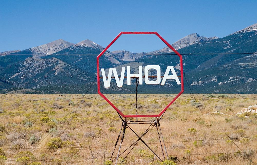 Remote stopsign, Nevada, U.S.A.