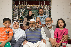 Four generations of family at home together,