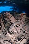 The SS Thistlegorm was a British armed Merchant Navy ship built in 1940 by Joseph Thompson & Son in Sunderland, England. She was sunk on 6 October 1941 near Ras Muhammad in the Red Sea and is now a well known diving site.