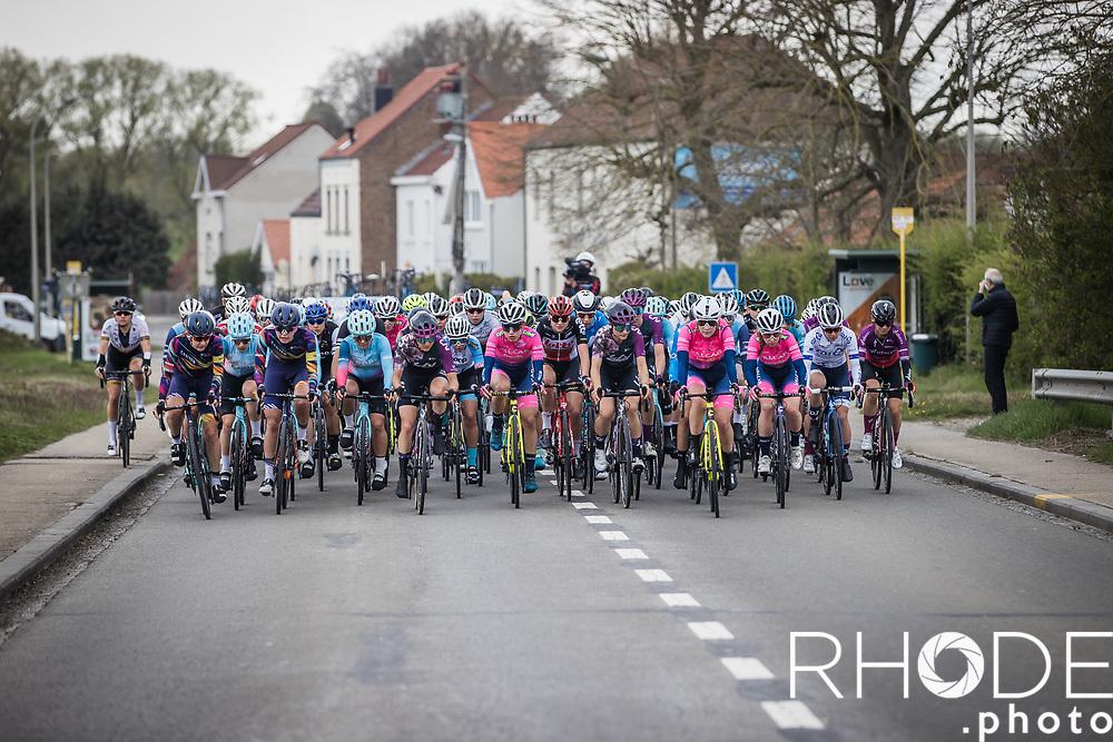 peloton<br /> <br /> Women's Elite Brabantse Pijl 2021 <br /> 1 Day Race: Lennik - Overijse 127km<br /> <br /> ©Rhode.Photo