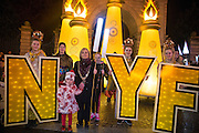 NO FEE PICTURES<br /> 31/12/15 Lord Mayor is Críona Ní Dhálaigh with her grandaughters Ciara Loughran, age 5 and Eadaoin O Snodaigh, 12 at the NYF Procession of Light at St Stephens Green, part of the New Years Festival in Dublin. nyf.com running from 30th Dec to 1st Jan in Dublin. Picture: Arthur Carron