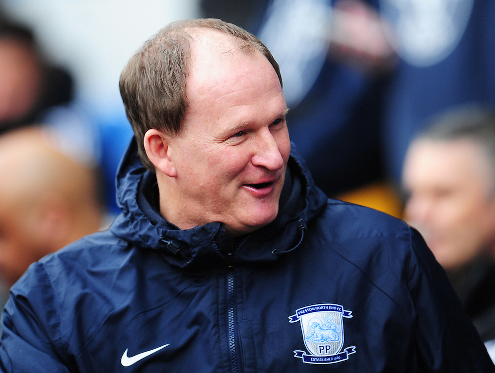 Preston North End manager Simon Grayson <br /> <br /> Photographer Kevin Barnes/CameraSport<br /> <br /> Football - The Football League Sky Bet Championship - Cardiff City v Preston North End - Saturday 27th February 2016 -  Cardiff City Stadium - Cardiff<br /> <br /> © CameraSport - 43 Linden Ave. Countesthorpe. Leicester. England. LE8 5PG - Tel: +44 (0) 116 277 4147 - admin@camerasport.com - www.camerasport.com
