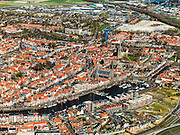 Nederland, Friesland, Harlingen, 16-04-2012; centrum van de stad. .Old town of Harlingen..luchtfoto (toeslag), aerial photo (additional fee required);.copyright foto/photo Siebe Swart