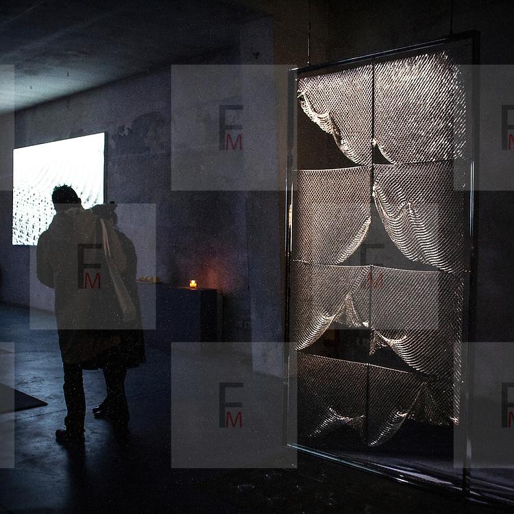 Eventi del Fuorisalone nelle strade di Milano, in occasine del Salone Internazionale del Mobile..MTX - Broderie Architecturale..The events of Fuorisalone around the city during the Furniture International Show in Milan. MTX - Broderie Architecturale
