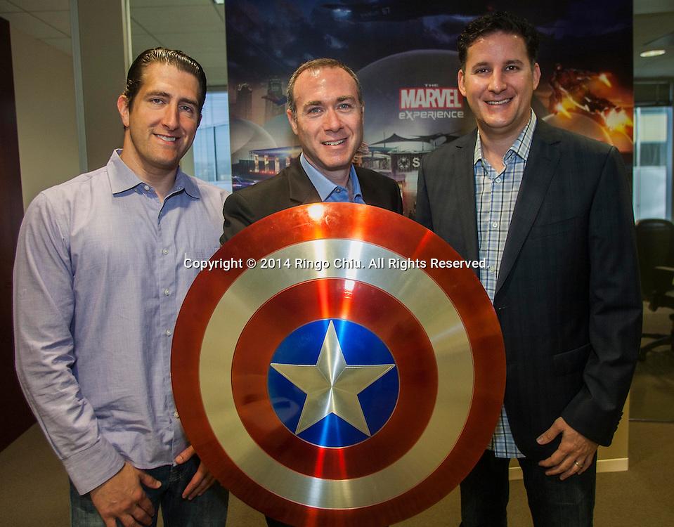 Jason Rosen, left, CPO, Rick Licht, CEO, and Doug Schaer, Coo, of Hero Ventures.<br /> (Photo by Ringo Chiu/PHOTOFORMULA.com)