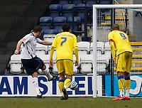 Photo: Steve Bond/Richard Lane Photography. Preston North End v Cardiff City. Coca Cola Championship. 27/02/2010. Jon Parkin (L) slots home the penalty