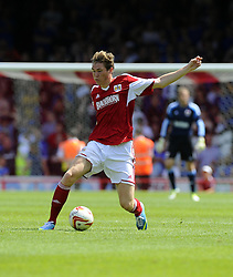 Bristol City's Luke Dobie - Photo mandatory by-line: Joe Meredith/JMP - Tel: Mobile: 07966 386802 13/07/2013 - SPORT - FOOTBALL - Bristol -  Bristol City v Glasgow Rangers - Pre Season Friendly - Bristol - Ashton Gate Stadium
