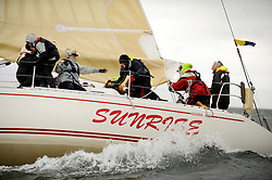 The Clyde Cruising Club's Scottish Series held on Loch Fyne by Tarbert. .Day 4 Racing with a wet Southerly to start clearing up for the last race...GBR4754 , Sunrise , S.& N. Chalmers  , CCC , Sigma 400