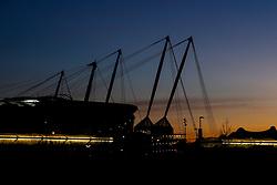 The sun sets over the Etihad Stadium ahead of the Carabao Cup Semi-Final first leg between Manchester City and Burton Albion - Mandatory by-line: Robbie Stephenson/JMP - 09/01/2019 - FOOTBALL - Etihad Stadium - Manchester, England - Manchester City v Burton Albion - Carabao Cup