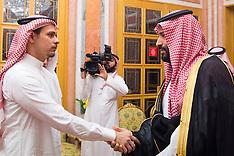Saudi King and Crown Prince Receives Khashoggi Family - 24 Oct 2018