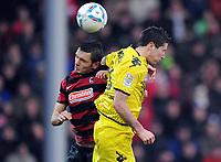v.l. Beg Ferati, Robert Lewandowski (Dortmund)<br /> Bundesliga, SC Freiburg - Borussia Dortmund<br /> Norway only