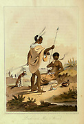 Booshuana Man and Woman A voyage to Cochinchina, in the years 1792 and 1793. To which is annexed an account of a journey made in the years 1801 and 1802, to the residence of the chief of the Booshuana nation by Sir John Barrow, 1764-1848 Published in London in 1806 by T. Cadell and W. Davies
