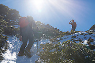 In the alpine cirque of Snow Mountain, just a few hundred meters from the peak.