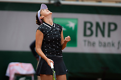 May 30, 2019 - Paris, FRANCE - Belinda Bencic of Switzerland in action during her second-round match at the 2019 Roland Garros Grand Slam tennis tournament (Credit Image: © AFP7 via ZUMA Wire)