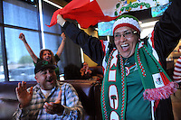 Ana Martha Abundiz rocks the house at the Pizza Factory on Natividad Road in Salinas as Mexico scores first in their 3-1 World Cup win over Croatia on Monday. Mexico moves on to the next round win two wins and a tie.