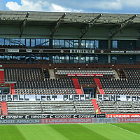 "nph00001  Millerntor-Stadion, Transparent ""Fussball lebt durch seine Fans""<br /> Hamburg, 17.05.2020, Fussball 2. Bundesliga, FC St. Pauli - 1. FC Nuernberg <br /> <br /> Foto: Tim Groothuis/Witters/Pool//via Kokenge/nordphoto"