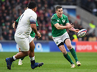 LONDON, ENGLAND - MARCH 17: Ireland's Johnny Sexton in action during the NatWest Six Nations Championship match between England and Ireland at Twickenham Stadium on March 17, 2018 in London, England. (Photo by Ashley Western - MB Media via Getty Images)