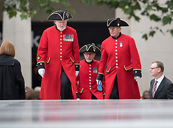 © Licensed to London News Pictures. 10/06/2016. London, UK. Chelsea Pensioners arrive at St Paul's Cathedral before members of the British Royal Family attend a service of thanksgiving to mark the 90th birthday of Queen Elizabeth II. Photo credit: Ben Cawthra/LNP