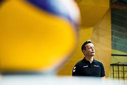Gregor Rozman, head coach of Calcit Volley during 3rd Leg Volleyball match between Calcit Volley and Nova KBM Maribor in Final of 1. DOL League 2020/21, on April 17, 2021 in Sportna dvorana, Kamnik, Slovenia. Photo by Matic Klansek Velej / Sportida