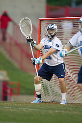 23 April 2010: North Carolina Tar Heels  goalkeeper Chris Madalon (11) during a 13-5 loss to the Maryland Terrapins in the first round of the ACC Tournament at Byrd Stadium in College Park, MD.