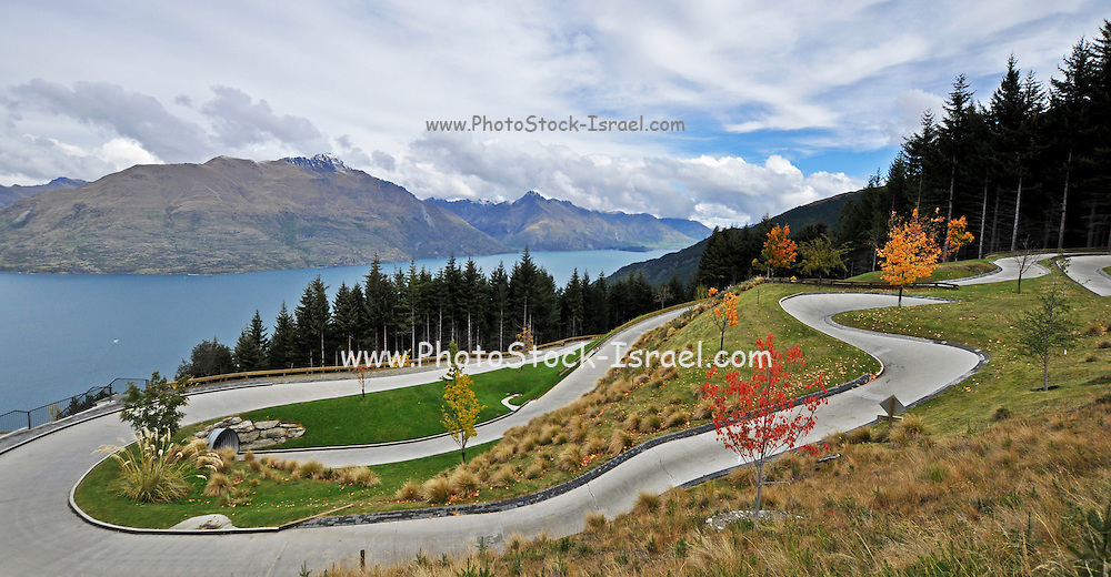 A Luge track in Queenstown, New Zealand.