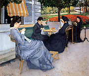Gustave Caillebotte   1848 –  1894,  French painter.  (Untitled portrait of a group of women).