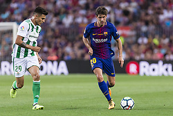 August 20, 2017 - Barcelona, Catalonia, Spain - Sergi Roberto and Juanjo Narvaez during the match between FC Barcelona vs Real Betis Balompie, for the round 1 of the Liga Santander, played at Camp Nou Stadium on 20th August 2017 in Barcelona, Spain. (Credit Image: © Urbanandsport/NurPhoto via ZUMA Press)