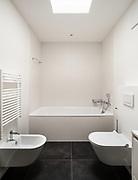 interior of empty apartment, <br /> modern bathroom
