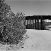 A section of the U.S. border fence looking toward Mexico from a dirt road near Jacumba, California..(Credit Image: © Louie Palu/ZUMA Press)