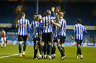 1-0, GOAL celebration by  Callum Paterson of Sheffield Wednesday  during the EFL Sky Bet Championship match between Sheffield Wednesday and Middlesbrough at Hillsborough, Sheffield, England on 29 December 2020.