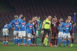 February 17, 2019 - Napoli, Italy, Italy - Italian Serie A football match SSC Napoli - Torino FC at the San Paolo stadium in photo team of ssc napoli and torino fc for arc check, score final of the match is 0-0. (Credit Image: © Antonio Balasco/Pacific Press via ZUMA Wire)
