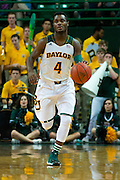 WACO, TX - DECEMBER 18: Gary Franklin #4 of the Baylor Bears brings the ball up court against the Northwestern State Demons on December 18 at the Ferrell Center in Waco, Texas.  (Photo by Cooper Neill) *** Local Caption *** Gary Franklin