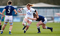 Caption Template Rugby Union - 2021 Women Six Nations - Pool A - England vs Scotland - Castle Park, Doncaster<br /> <br /> Cath O'Donnell of England at Castle Park <br /> <br /> Credit COLORSPORT/LYNNE CAMERON