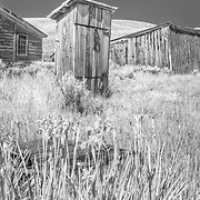 Abandoned old ghost town of Bodie, CA on the eastern edge of the Sierras.