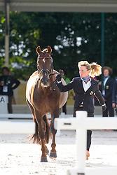 Helen Langehanenberg, (GER), Damon Hill NRW - Horse Inspection Dressage - Alltech FEI World Equestrian Games™ 2014 - Normandy, France.<br /> © Hippo Foto Team - Leanjo de Koster<br /> 25/06/14