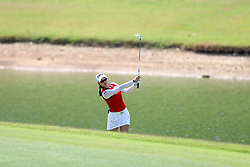 March 3, 2019 - Singapore - Minjee Lee of Australia plays a shot on the 5th hole during the final round of the Women's World Championship at the Tanjong Course, Sentosa Golf Club. (Credit Image: © Paul Miller/ZUMA Wire)