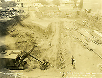 6/1925 Excavation site of the El Capitan Theater