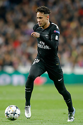 Paris Saint-Germain's Neymar Jr during UEFA Champions League round of 16 first leg Real Madrid v Paris Saint Germain (PSG) match at Santiago Bernabeu stadium in Madrid, Spain, February 14, 2018. Photo by Acero/AlterPhotos/ABACAPRESS.COM