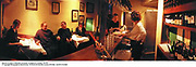 Interior of Andrew Edmunds restaurant. Lexington St. London.  27/1/99. <br />© Copyright Photograph by Dafydd Jones  66 Stockwell Park Rd. London SW9 0DA  Tel 0171 733 0108