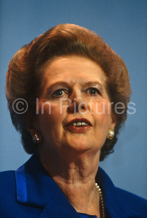 Margaret Thatcher gives her last speech as Prime Minister at the Tory conference, Blackpool before being deposed weeks later.Thatcher died on April 8th 2013 after suffering a stroke while staying in the Ritz Hotel, London.