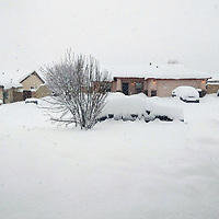 A foot of snow fell in St. Michaels, Arizona, Fruday morning with more snowfall predicted Friday evening.