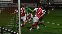 Hull City's George Honeyman scores the equaliser to make the score 1-1<br /> <br /> Photographer Dave Howarth/CameraSport<br /> <br /> The EFL Sky Bet League One - Fleetwood Town v Hull City - Friday 9th October 2020 - Highbury Stadium - Fleetwood<br /> <br /> World Copyright © 2020 CameraSport. All rights reserved. 43 Linden Ave. Countesthorpe. Leicester. England. LE8 5PG - Tel: +44 (0) 116 277 4147 - admin@camerasport.com - www.camerasport.com