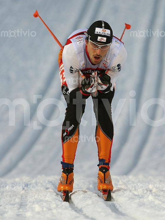 Sapporo , 220207 , Nordische Ski Weltmeisterschaft  Sprintrennen der Maenner ,  Thomas STOEGGL (AUT)