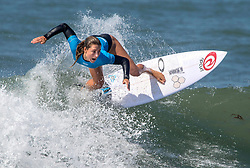 September 6, 2017 - San Clemente, California, USA - Nikki Van Dijk surfs in her heat during the Swatch Pro at Lower Trestles at San Onofre State Beach south of San Clemente on Wednesday, August 6, 2017. (Photo by Mark Rightmire, Orange County Register/SCNG) (Credit Image: © Mark Rightmire/The Orange County Register via ZUMA Wire)