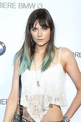 © Licensed to London News Pictures. Lilah Parsons  at the BMW i3 global reveal party, Old Billingsgate Market, London UK, 29 July 2013. Photo Credit:  Richard Goldschmidt/LNP