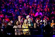 ROTTERDAM, 20-5-2021, AHOY<br /> <br /> Koningin Maxima tijdens een bezoek aan het Eurovisie Songfestival in Rotterdam Ahoy in het kader van Méér Muziek in de Klas als maatschappelijkpartner. FOTO: Brunopress/Patrick van Katwijk<br /> <br /> Queen Maxima during a visit to the Eurovision Song Contest in Rotterdam Ahoy in the context of Méér Muziek in de Klas as a social partner.