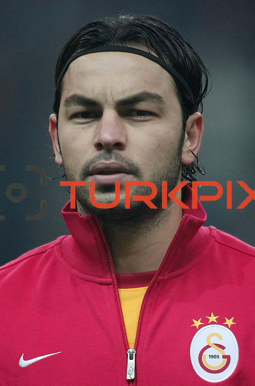 Galatasaray's Selcuk Inan during their Turkish Super League soccer match Galatasaray between IBBSpor at the TT Arena at Seyrantepe in Istanbul Turkey on Tuesday, 03 January 2012. Photo by TURKPIX