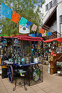 Outdoor bazaar tourist gift shops at Old Town San Diego State Historic Park, San Diego, California
