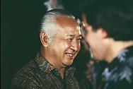 Haji Mohamed Suharto president of Indonesia on May 1, 1986,<br />Photo by Dennis Brack