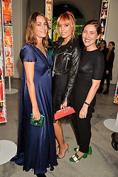 Left to right, YASMIN LE BON, AMBER LE BON and EMILIA WICKSTEAD at the Alexandra Shulman and Leon Max hosted opening of Vogue 100: A Century of Style at The National Portrait Gallery, London on 9th February 2016.